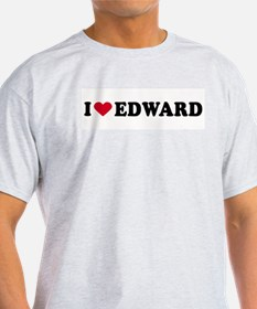 I LOVE EDWARD ~  Ash Grey T-Shirt