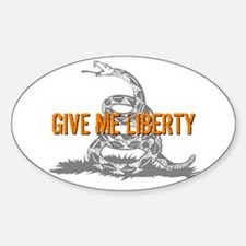 Give Me Liberty Rattlesnake Oval Decal