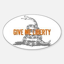 Give Me Liberty Rattlesnake Oval Decal