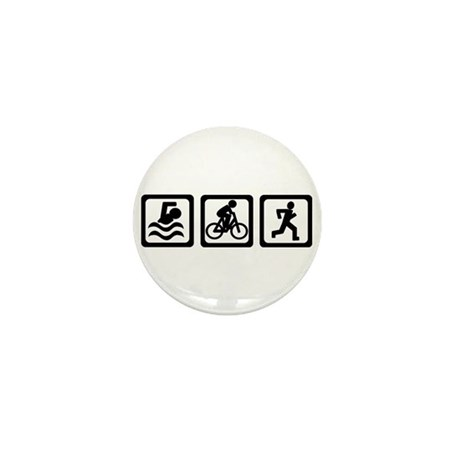 Triathlon Mini Button (10 pack)