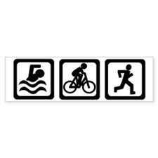 Triathlon Bumper Car Sticker