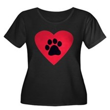 Heart and Pawprint T