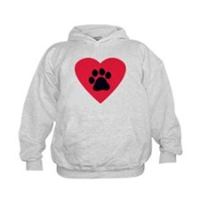 Heart and Pawprint Hoodie