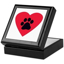 Heart and Pawprint Keepsake Box