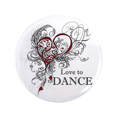"Love to Dance 3.5"" Button (100 pack)"
