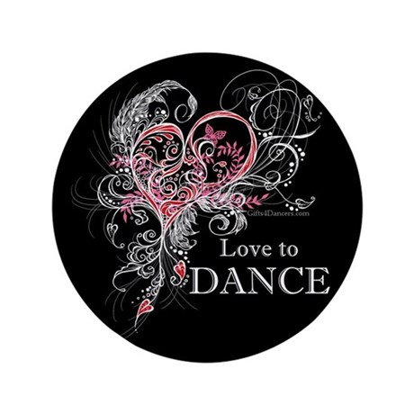 "Love to Dance 3.5"" Button"