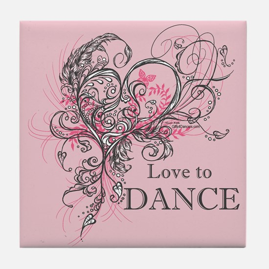 Love to Dance Tile Coaster