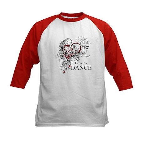 Love to Dance Kids Baseball Jersey
