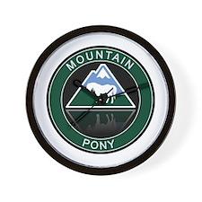 Mountain Pony Wall Clock