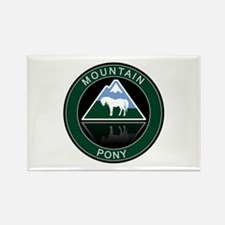 Mountain Pony Rectangle Magnet