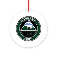 Mountain Pony Ornament (Round)
