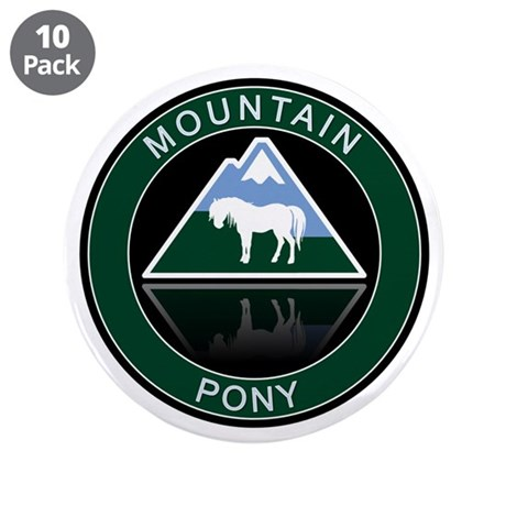 """Mountain Pony 3.5"""" Button (10 pack)"""
