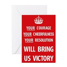 Your Courage Poster - Red Greeting Cards