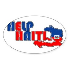Help Haiti Oval Decal