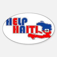 Help Haiti Oval Decal