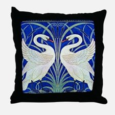 THE SWANS Throw Pillow