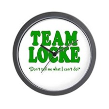 TEAM LOCKE with Quote Wall Clock