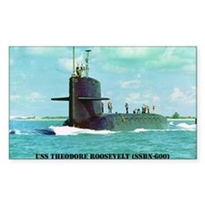 USS THEODORE ROOSEVELT Rectangle Decal