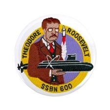 "USS THEODORE ROOSEVELT 3.5"" Button (100 pack)"