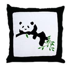 Resting Panda Throw Pillow