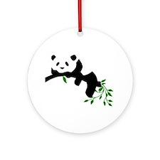 Resting Panda Ornament (Round)