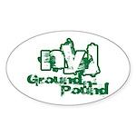 NYJ FOOTBALL - Oval Sticker