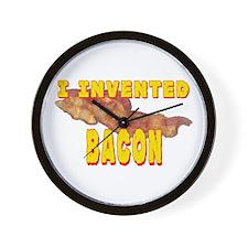 I Invented Bacon Wall Clock
