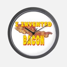 I Invented Bacon Wall Clock