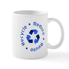 Blue Reduce Reuse Recycle Mug