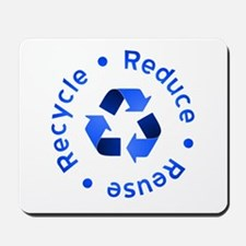 Blue Reduce Reuse Recycle Mousepad