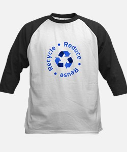 Blue Reduce Reuse Recycle Tee