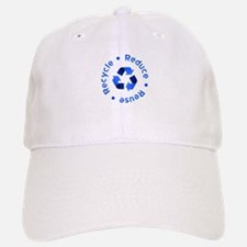 Blue Reduce Reuse Recycle Baseball Baseball Cap