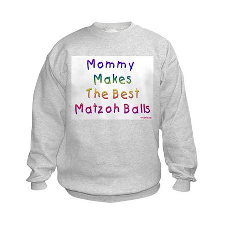 Matzah Balls Passover Kids Sweatshirt