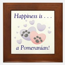 Happiness is...a Pomeranian Framed Tile