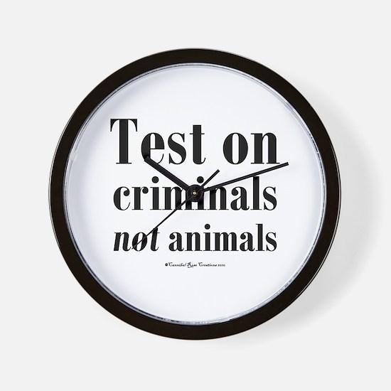 Criminal Behavior Wall Clock