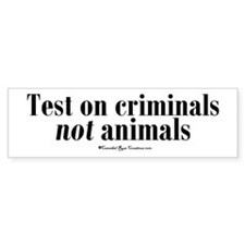 Criminal Behavior Bumper Car Sticker