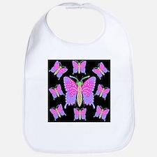 Neon Dragon Swallowtails Bib
