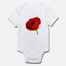 Bright Red Rose Infant Bodysuit