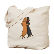 Dancing Dachshunds Tote Bag