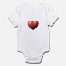 3-D Pink Heart Infant Bodysuit