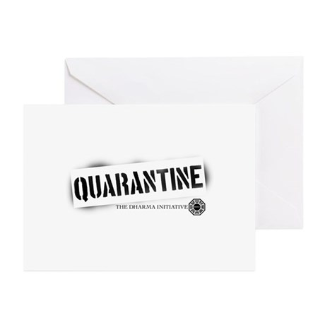 Quarantine - Dharma Initiative Greeting Cards (Pk