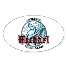 Archangel Michael Oval Decal