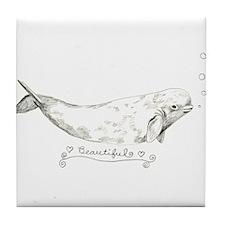 Cool Whale Tile Coaster