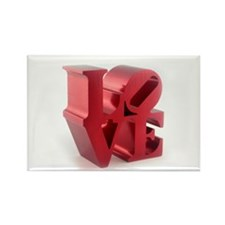 Retro Style LOVE Rectangle Magnet