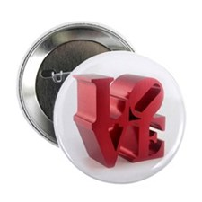 "Retro Style LOVE 2.25"" Button (100 pack)"
