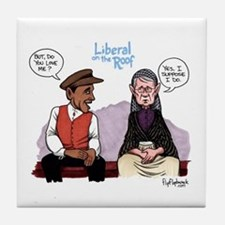 Liberal on the Roof Tile Coaster