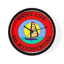 Enjoy Life Go Windsurfing Wall Clock