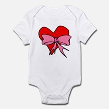 Heart Pink Bow Infant Bodysuit