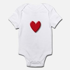 3-D Red Heart Infant Bodysuit