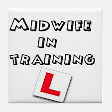 Funny Midwife Tile Coaster